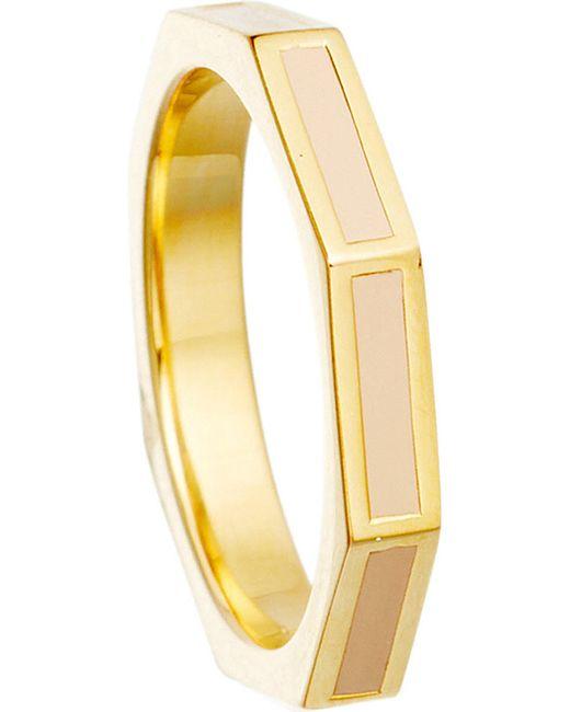 Astley Clarke   Yellow Peach Blush Fractal Ring   Lyst