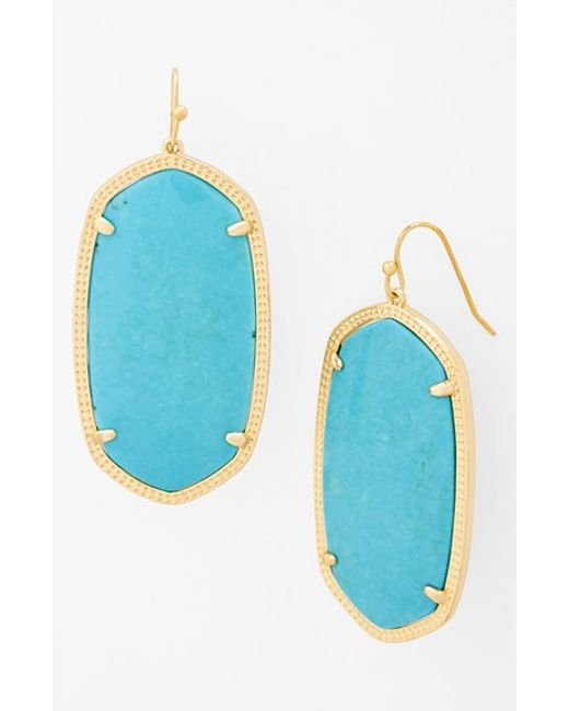 Kendra Scott | Blue 'danielle - Large' Oval Statement Earrings | Lyst