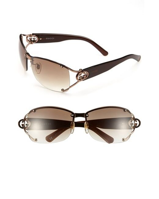 Rimless Glasses Expensive : Gucci 62mm Open Temple Special Fit Rimless Sunglasses in ...
