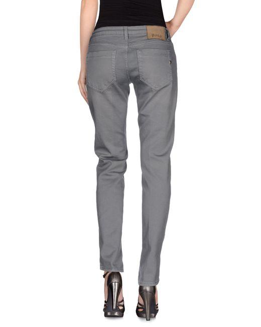 Dondup   Gray Denim Trousers   Lyst