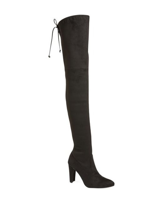 Stuart Weitzman   Black All Legs Suede Over-The-Knee Boots   Lyst