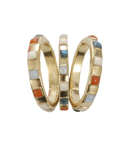 Vaubel | Metallic Square Stone Triple Bangle | Lyst