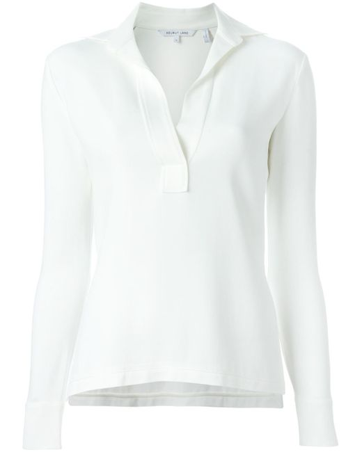 Helmut Lang | White Women's Raw Tuxedo Shirt | Lyst