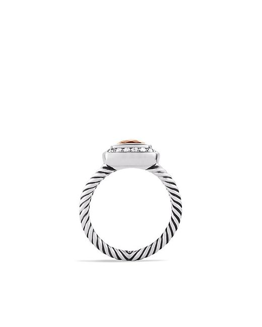 David Yurman | Metallic Petite Albion Ring With Morganite And Diamonds | Lyst