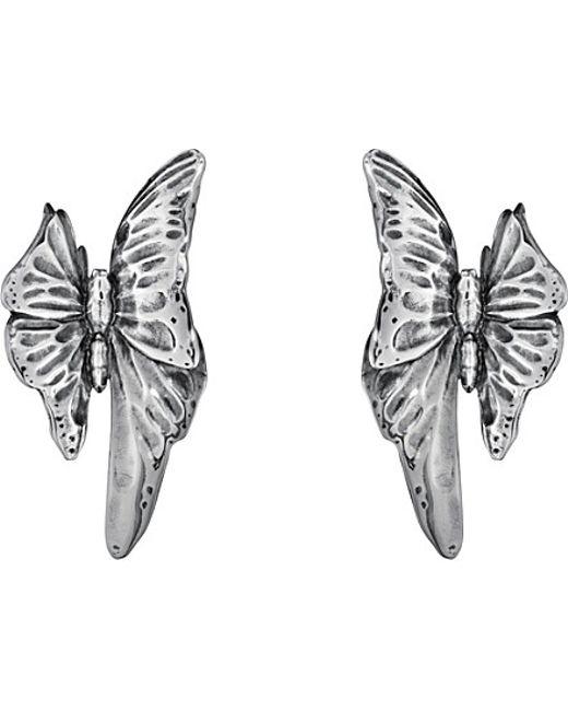 Georg Jensen | Metallic Askill Oxidated Sterling Silver Earrings | Lyst