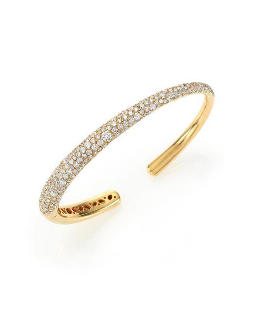 Kwiat | Metallic Cobblestone Diamond & 18K Yellow Gold Cuff Bracelet | Lyst