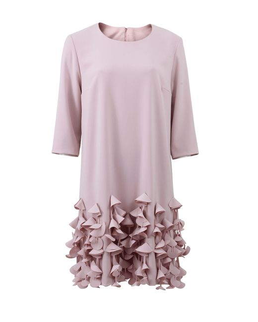 Catherine Regehr | Pink Petal Hem Shift Dress | Lyst