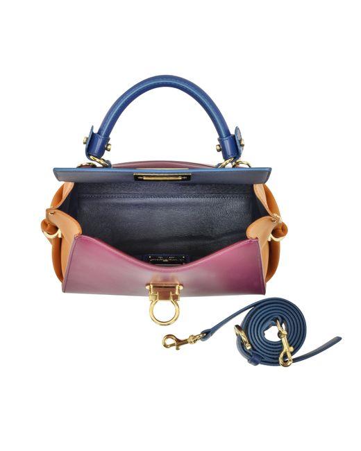Ferragamo   Metallic Small Sofia Color Block Leather Shoulder Bag   Lyst
