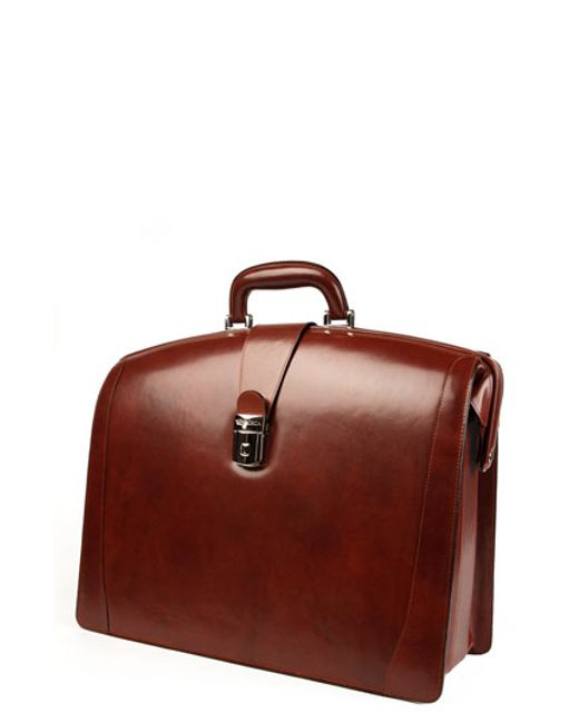 Bosca | Brown Triple Compartment Leather Briefcase for Men | Lyst