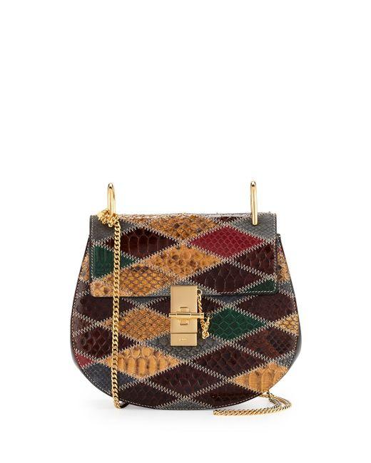 chloe metallic python shoulder bag