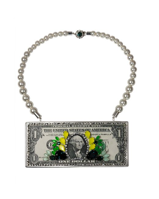 Bijoux De Famille | Green Michelle O Necklace | Lyst