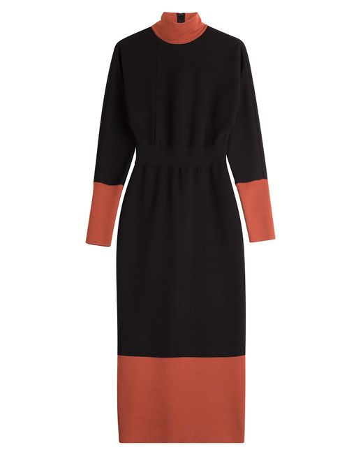 Fendi | Blue Wool Midi Dress - Multicolor | Lyst