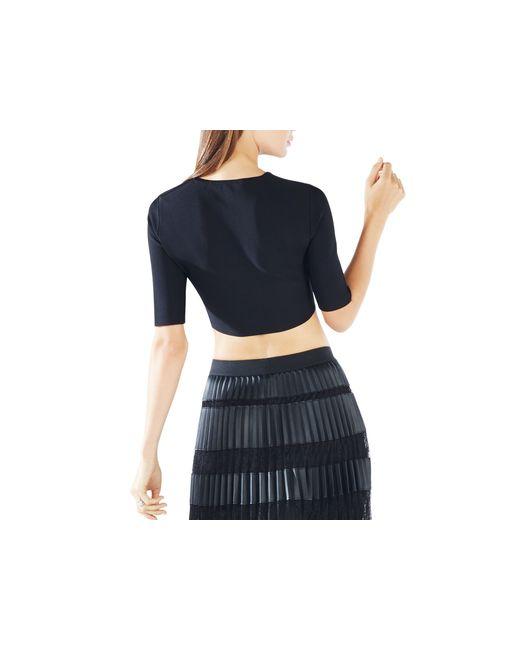 BCBGMAXAZRIA | Black Elenora Cropped Sweater | Lyst