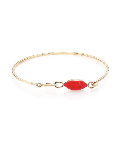 Delfina Delettrez   Red Anatomik Lips Bracelet   Lyst