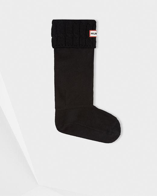Hunter   Black Original Six-stitch Cable Boot Socks   Lyst