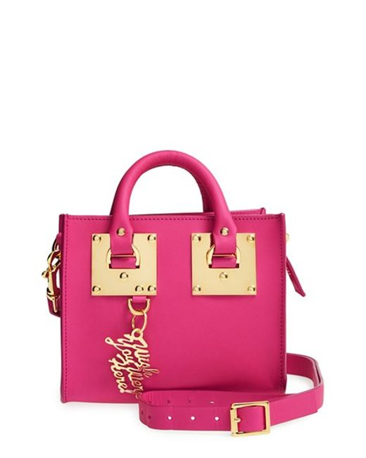 Sophie Hulme | Pink Leather Box Crossbody Bag | Lyst