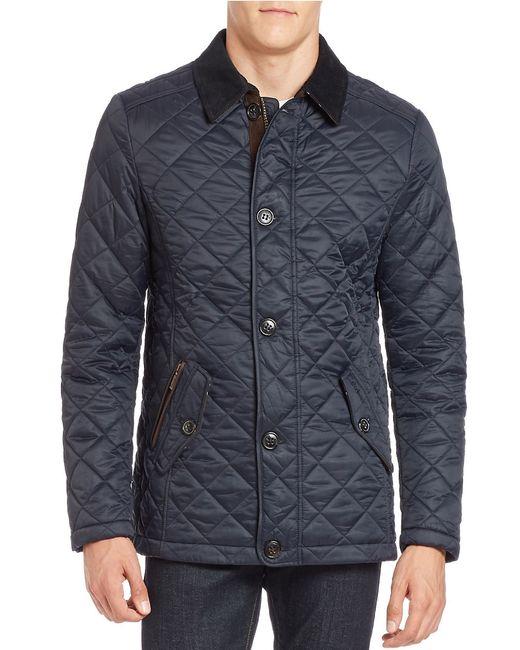 Barbour | Blue Fortnum Quilted Jacket for Men | Lyst