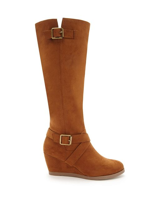 Forever 21 | Brown Knee-high Faux Suede Boots | Lyst