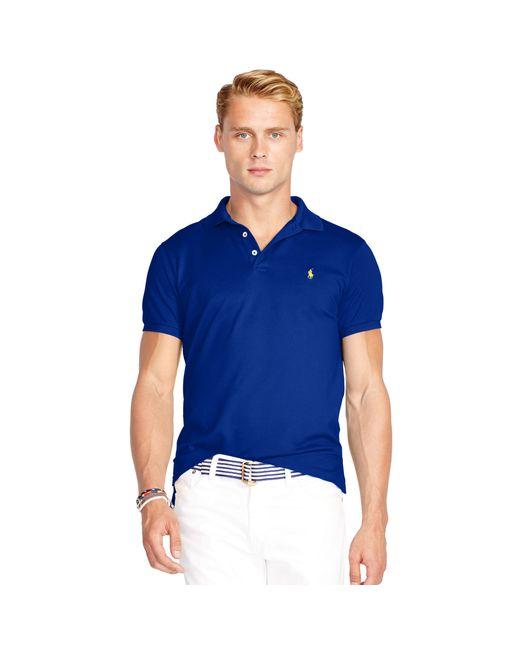 Polo Ralph Lauren   Blue Slim-fit Stretch Mesh Polo for Men   Lyst