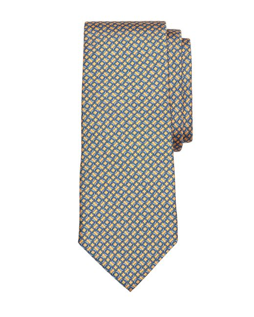 Brooks Brothers | Yellow Circle Link Print Tie for Men | Lyst