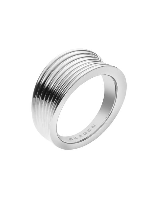 Skagen | Metallic Classic Silver Steel Ring | Lyst