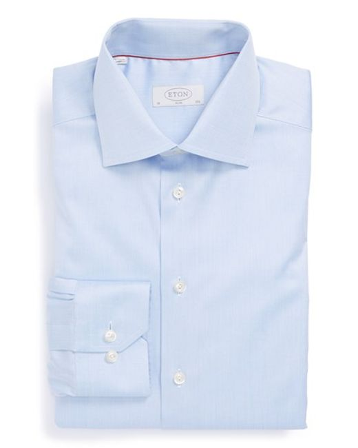 Eton of Sweden | Blue Slim Fit Dress Shirt for Men | Lyst