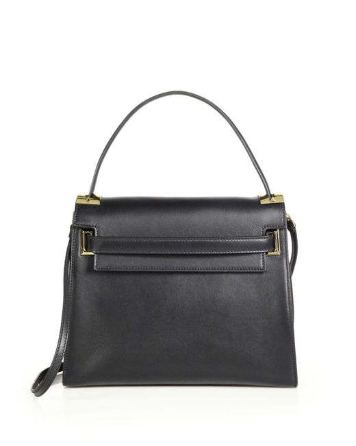 Valentino | Black Flap Satchel | Lyst