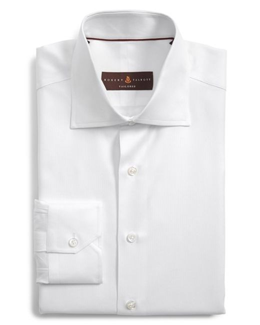 Robert Talbott | White Tailored Fit Dress Shirt for Men | Lyst