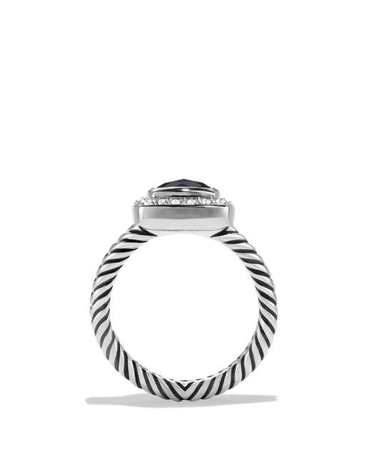 David Yurman   Petite Albion Ring With Black Onyx & Diamonds   Lyst