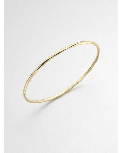 Ippolita | Metallic Glamazon Sculptural Metal 18k Yellow Gold Thin Bangle Bracelet | Lyst