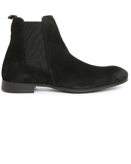 selected annick suede chelsea boots in black for lyst