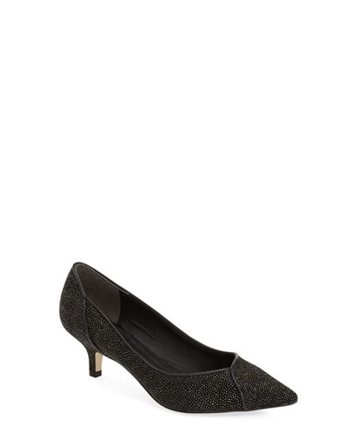 Adrianna Papell | Black Lydia Metallic Leather Pumps | Lyst