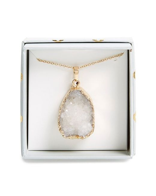Panacea | Metallic Drusy Pendant Necklace | Lyst