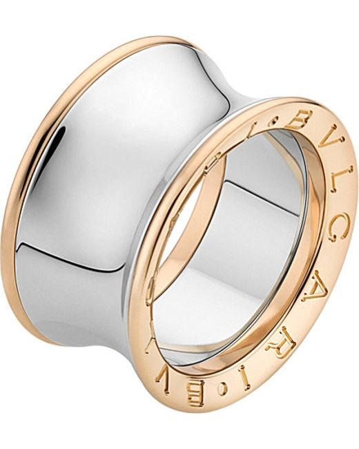 BVLGARI | Metallic Anish Kapoor B.Zero1 18Ct Pink-Gold And Stainless Steel Ring - For Women | Lyst