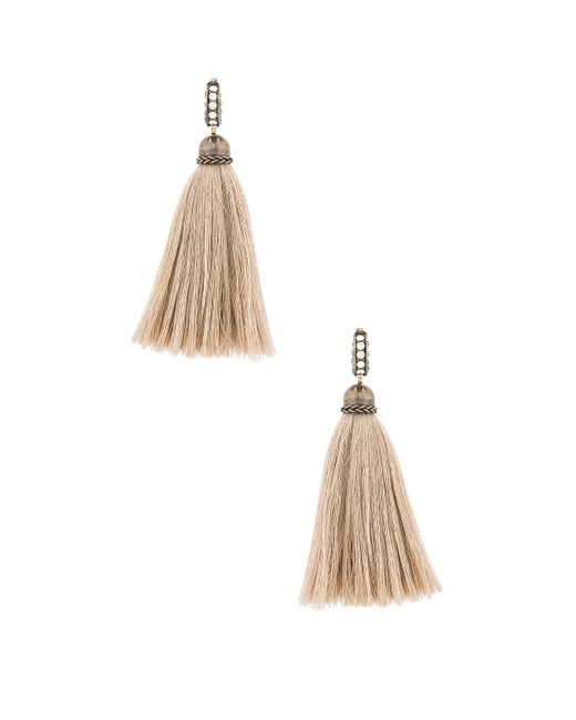 Lanvin | Metallic Tassel Earrings | Lyst