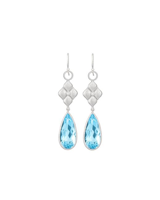Jude Frances | Blue Classic 18k Quilted Kite Charm Earrings | Lyst