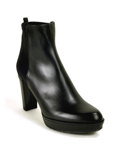 Stuart Weitzman | Black Otherhalf Leather Ankle Boots | Lyst