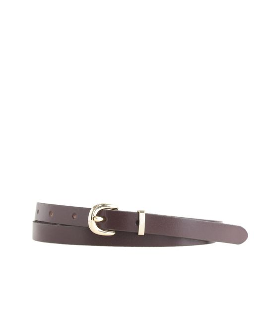 J.Crew | Brown Skinny Leather Belt | Lyst