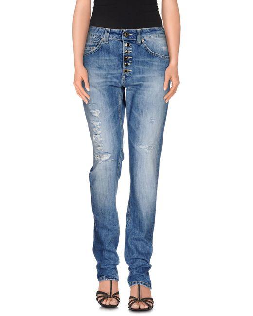 Dondup   Blue Denim Trousers   Lyst