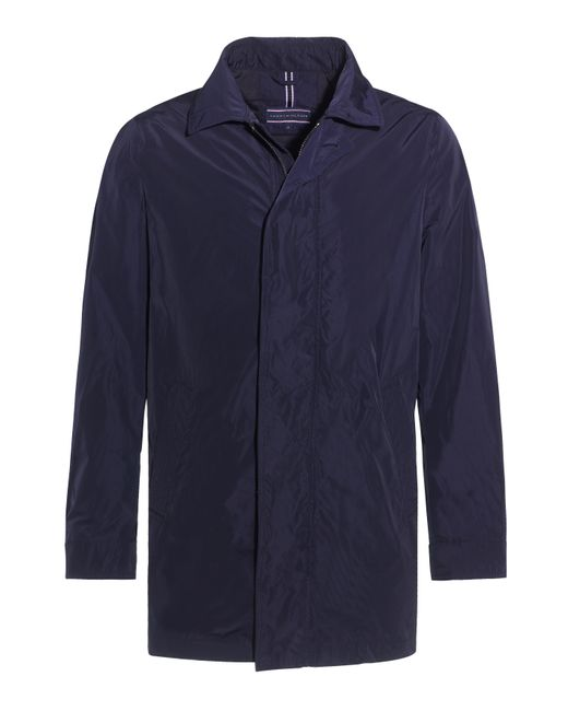 tommy hilfiger nylon trench coat in blue for men navy lyst. Black Bedroom Furniture Sets. Home Design Ideas