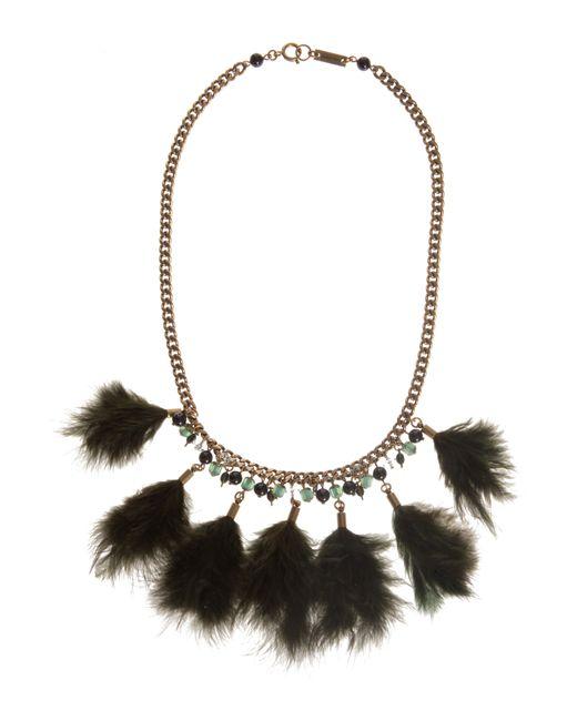Étoile Isabel Marant   Green Feather Necklace   Lyst