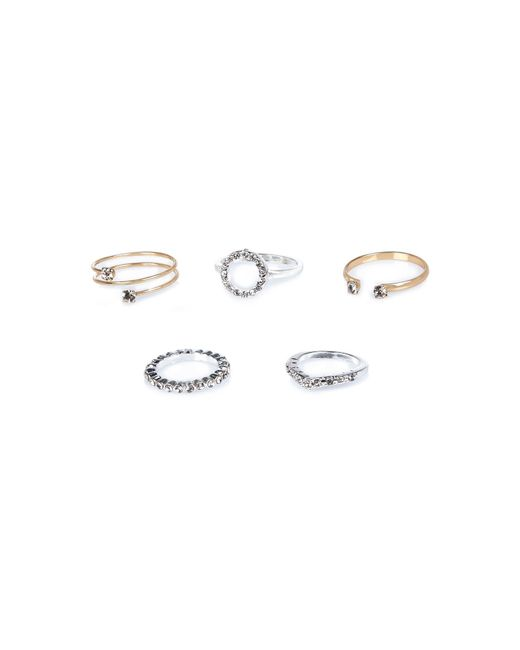 River Island | Metallic Mixed Delicate Rings Pack | Lyst