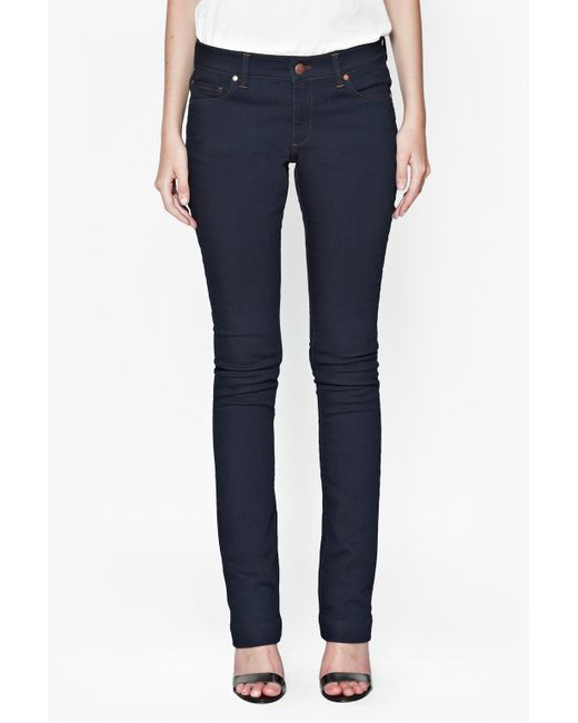 French Connection Navy Royal Slim Boot Cut Jeans In Blue | Lyst