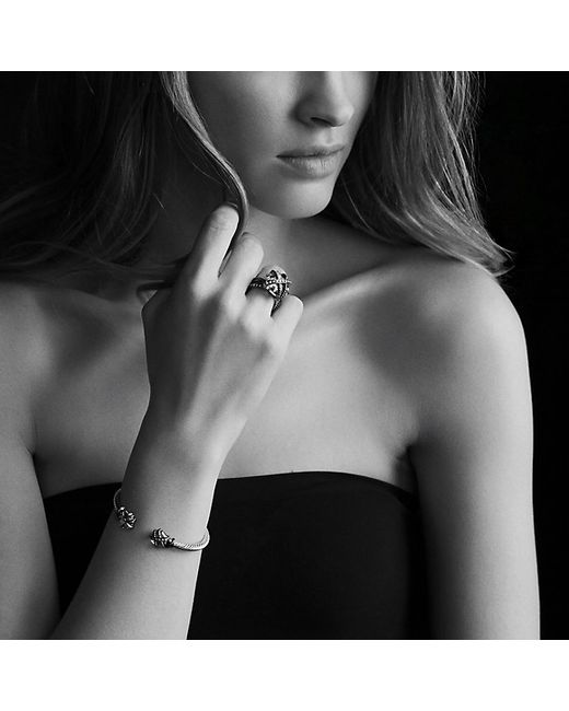 David Yurman | Cable Wrap Bracelet With Black Onyx And Diamonds In Gold | Lyst
