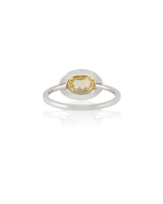 Anna Sheffield | Metallic Citrine Classic Amulet Ring | Lyst