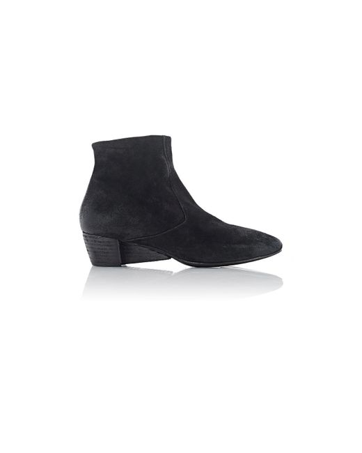 mars 232 ll suede wedge heel ankle boots in black lyst