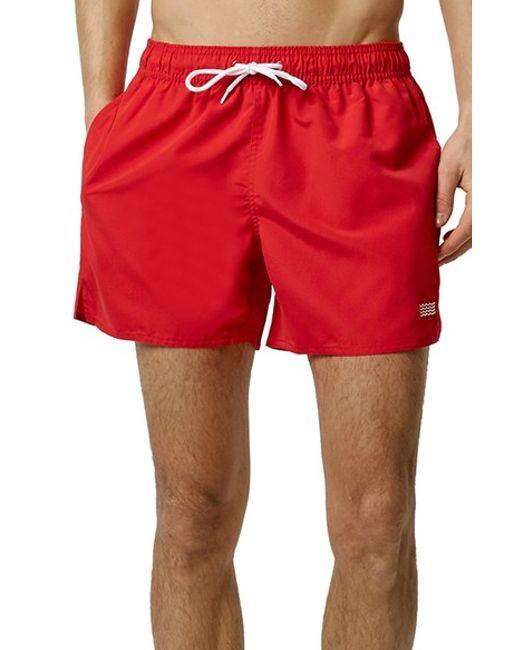 Topman Swim Trunks in Red for Men | Lyst