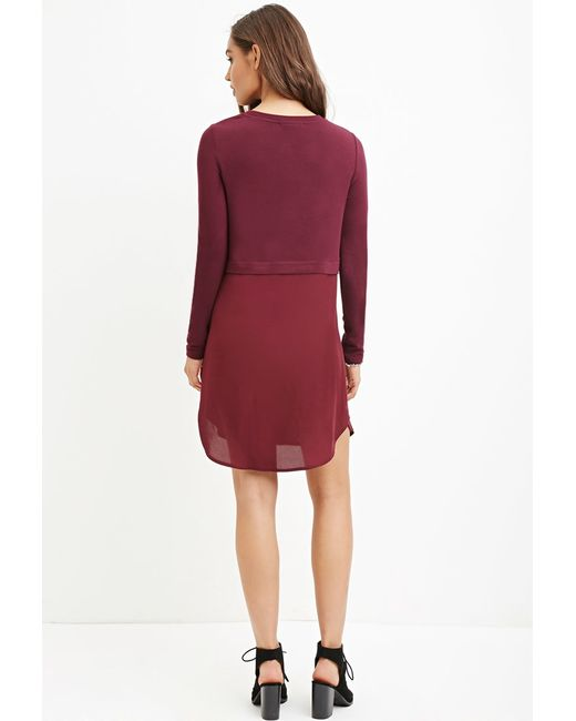 Forever 21 | Purple Sweater Combo Dress | Lyst