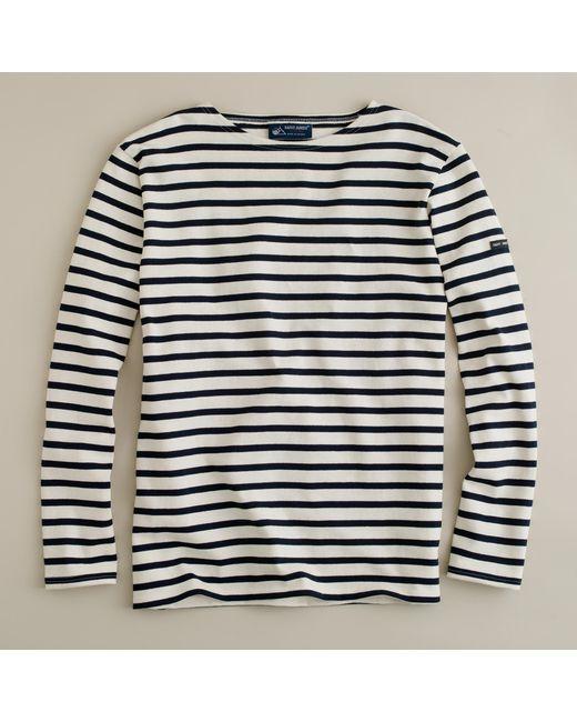 J.Crew   White Saint James Unisex Meridien Ii Nautical T-shirt for Men   Lyst