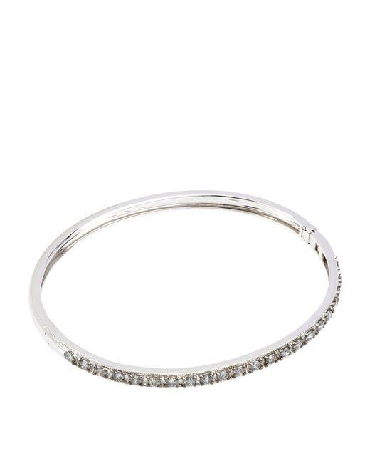 Annoushka | Metallic White Gold Dusty Diamonds Bangle | Lyst